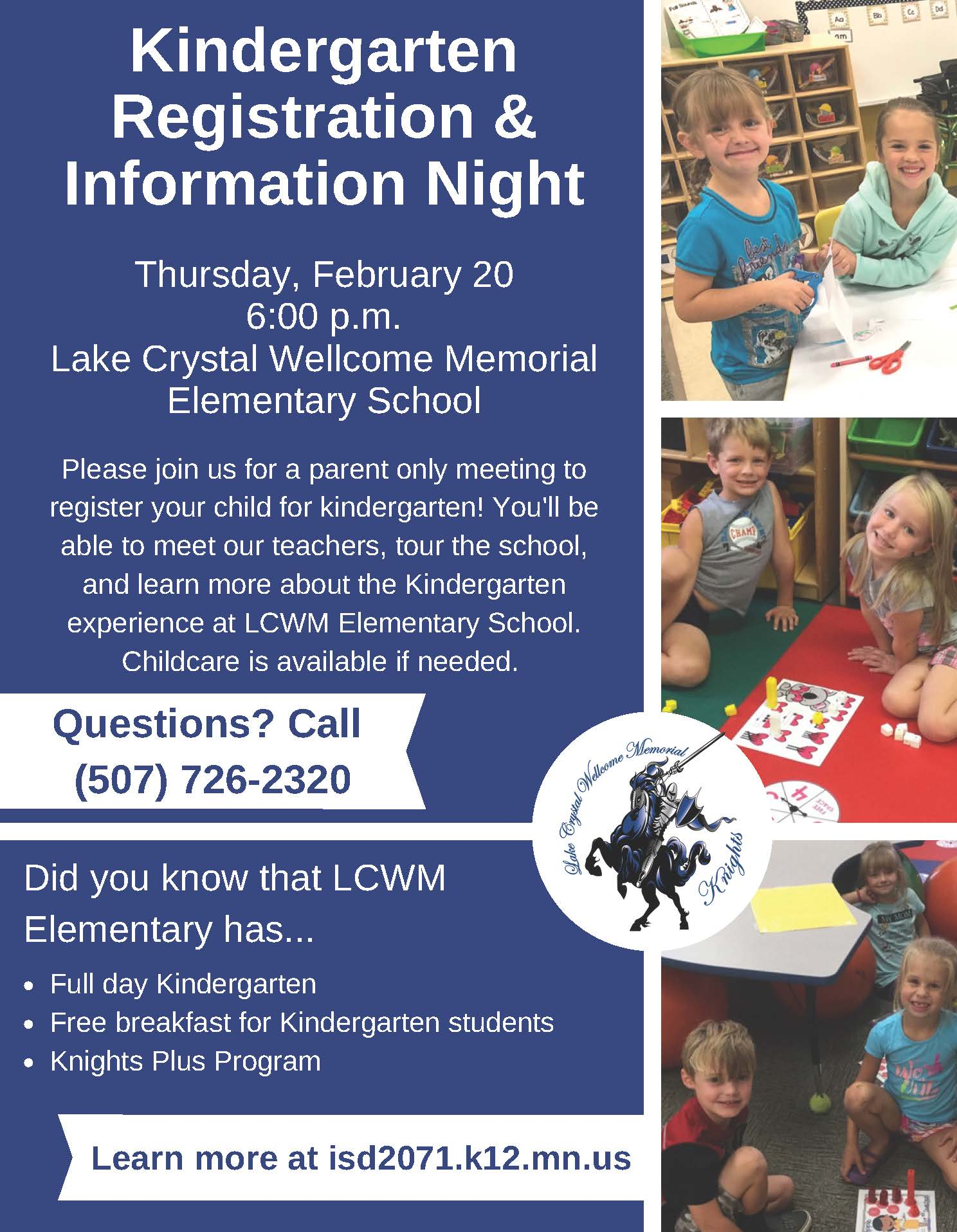 Kindergarten Registration and Information Night